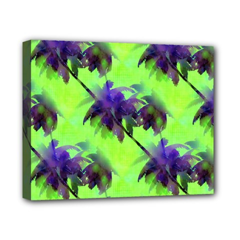 Palm Trees Lime In The Coconut Canvas 10  X 8  by CrypticFragmentsColors