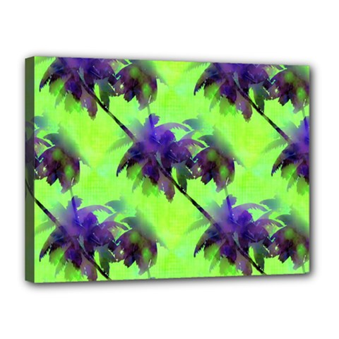 Palm Trees Lime In The Coconut Canvas 16  X 12  by CrypticFragmentsColors