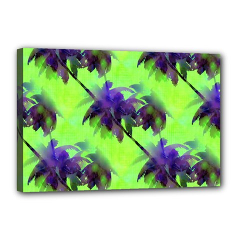 Palm Trees Lime In The Coconut Canvas 18  X 12  by CrypticFragmentsColors