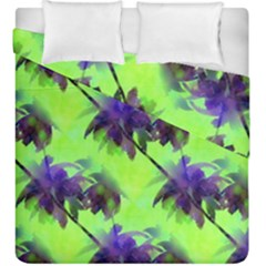 Palm Trees Lime In The Coconut Duvet Cover Double Side (king Size)