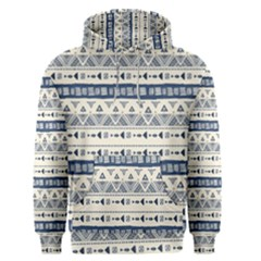 Native American Ornaments Watercolor Pattern Blue Men s Pullover Hoodie