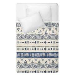 Native American Ornaments Watercolor Pattern Blue Duvet Cover Double Side (single Size)
