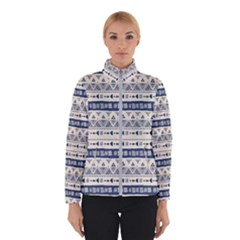 Native American Ornaments Watercolor Pattern Blue Winterwear