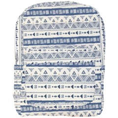 Native American Ornaments Watercolor Pattern Blue Full Print Backpack by EDDArt