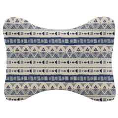 Native American Ornaments Watercolor Pattern Blue Velour Seat Head Rest Cushion