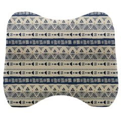 Native American Ornaments Watercolor Pattern Blue Velour Head Support Cushion