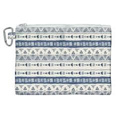 Native American Ornaments Watercolor Pattern Blue Canvas Cosmetic Bag (xl)