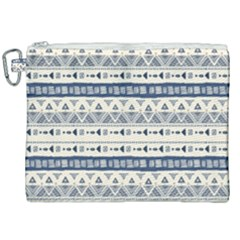 Native American Ornaments Watercolor Pattern Blue Canvas Cosmetic Bag (xxl) by EDDArt