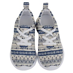 Native American Ornaments Watercolor Pattern Blue Running Shoes by EDDArt