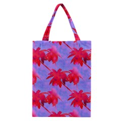 Palm Trees Neon Nights Classic Tote Bag by CrypticFragmentsColors