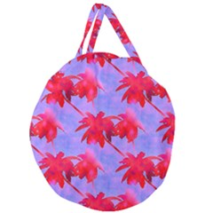 Palm Trees Neon Nights Giant Round Zipper Tote