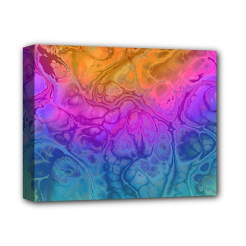 Fractal Batik Art Hippie Rainboe Colors 1 Deluxe Canvas 14  X 11