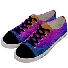 Fractal Batik Art Hippie Rainboe Colors 1 Men s Low Top Canvas Sneakers by EDDArt