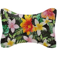 Tropical Flowers Butterflies 1 Seat Head Rest Cushion by EDDArt