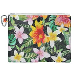 Tropical Flowers Butterflies 1 Canvas Cosmetic Bag (xxl) by EDDArt
