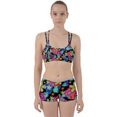 Colorful Retro Flowers Fractalius Pattern 1 Women s Sports Set by EDDArt