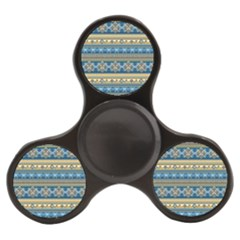 Vintage Border Wallpaper Pattern Blue Gold Finger Spinner by EDDArt