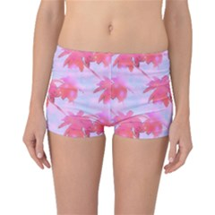 Palm Trees Paradise Pink Pastel Boyleg Bikini Bottoms by CrypticFragmentsColors