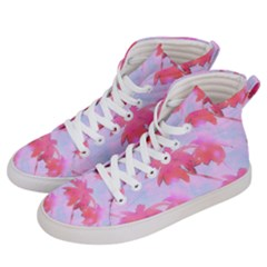 Palm Trees Paradise Pink Pastel Women s Hi Top Skate Sneakers by CrypticFragmentsColors