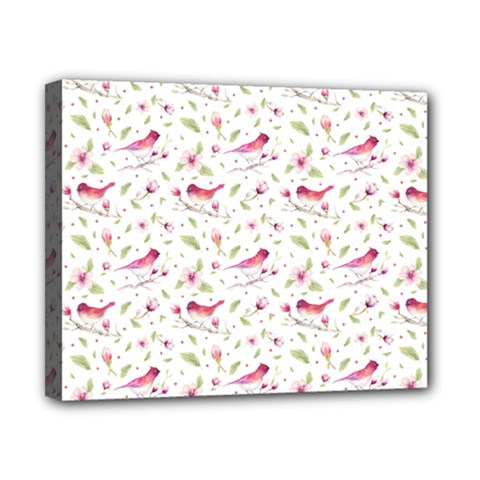 Watercolor Birds Magnolia Spring Pattern Canvas 10  X 8  by EDDArt
