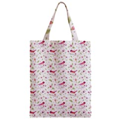 Watercolor Birds Magnolia Spring Pattern Zipper Classic Tote Bag by EDDArt