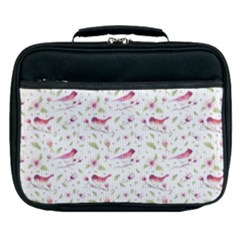 Watercolor Birds Magnolia Spring Pattern Lunch Bag by EDDArt