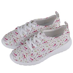 Watercolor Birds Magnolia Spring Pattern Women s Lightweight Sports Shoes by EDDArt