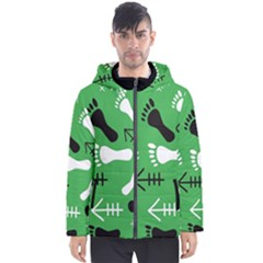 Green Men s Hooded Puffer Jacket by HASHDRESS
