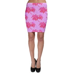Palm Trees Pink Paradise Bodycon Skirt by CrypticFragmentsColors