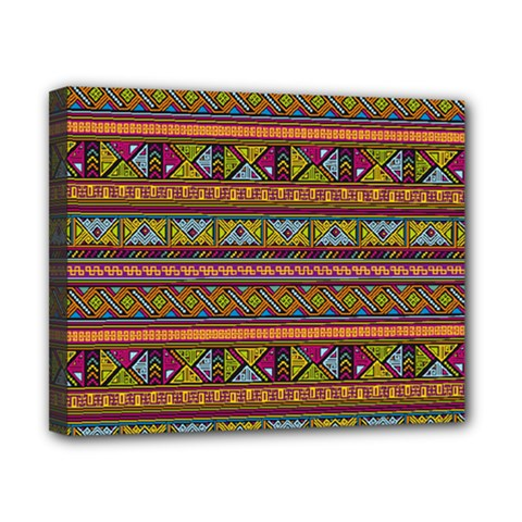 Traditional Africa Border Wallpaper Pattern Colored 2 Canvas 10  X 8  by EDDArt
