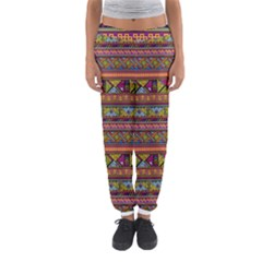 Traditional Africa Border Wallpaper Pattern Colored 2 Women s Jogger Sweatpants