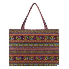 Traditional Africa Border Wallpaper Pattern Colored 2 Medium Tote Bag by EDDArt