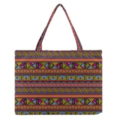 Traditional Africa Border Wallpaper Pattern Colored 2 Zipper Medium Tote Bag by EDDArt