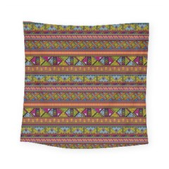 Traditional Africa Border Wallpaper Pattern Colored 2 Square Tapestry (small) by EDDArt