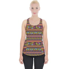 Traditional Africa Border Wallpaper Pattern Colored 2 Piece Up Tank Top by EDDArt