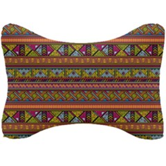 Traditional Africa Border Wallpaper Pattern Colored 2 Seat Head Rest Cushion by EDDArt