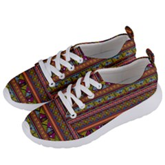 Traditional Africa Border Wallpaper Pattern Colored 2 Women s Lightweight Sports Shoes by EDDArt