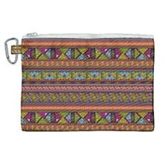 Traditional Africa Border Wallpaper Pattern Colored 2 Canvas Cosmetic Bag (xl) by EDDArt