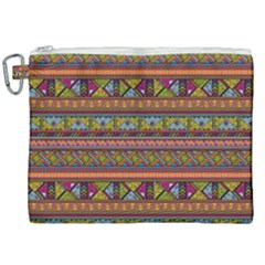 Traditional Africa Border Wallpaper Pattern Colored 2 Canvas Cosmetic Bag (xxl) by EDDArt