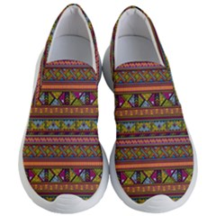 Traditional Africa Border Wallpaper Pattern Colored 2 Women s Lightweight Slip Ons by EDDArt