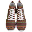 Traditional Africa Border Wallpaper Pattern Colored 2 Men s Lightweight High Top Sneakers View1