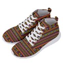 Traditional Africa Border Wallpaper Pattern Colored 2 Men s Lightweight High Top Sneakers View2