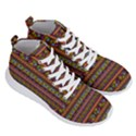 Traditional Africa Border Wallpaper Pattern Colored 2 Men s Lightweight High Top Sneakers View3