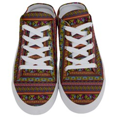 Traditional Africa Border Wallpaper Pattern Colored 2 Half Slippers by EDDArt