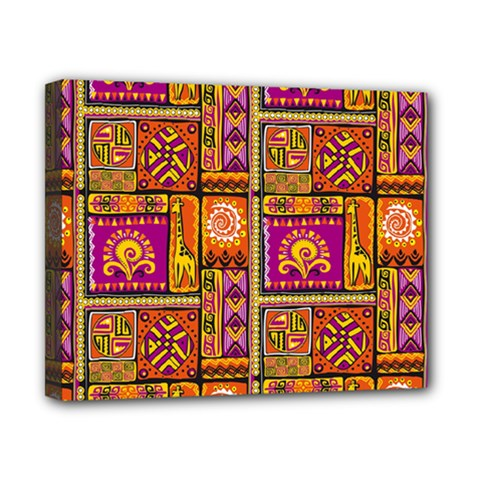 Traditional Africa Border Wallpaper Pattern Colored 3 Canvas 10  X 8  by EDDArt