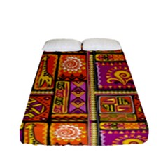 Traditional Africa Border Wallpaper Pattern Colored 3 Fitted Sheet (full/ Double Size) by EDDArt