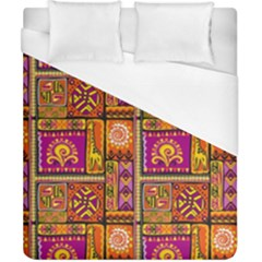 Traditional Africa Border Wallpaper Pattern Colored 3 Duvet Cover (california King Size) by EDDArt