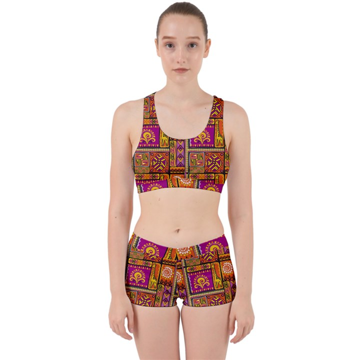 Traditional Africa Border Wallpaper Pattern Colored 3 Work It Out Gym Set
