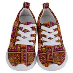 Traditional Africa Border Wallpaper Pattern Colored 3 Kids  Lightweight Sports Shoes