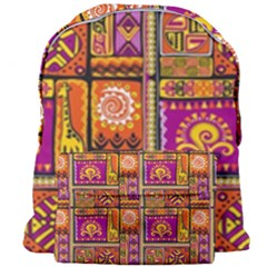Traditional Africa Border Wallpaper Pattern Colored 3 Giant Full Print Backpack
